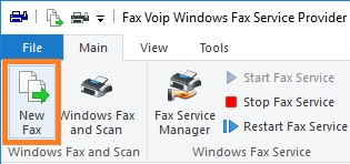 Send a Fax from Fax Voip FSP Control Panel