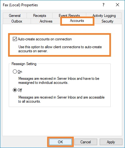 Auto-create accounts on connection