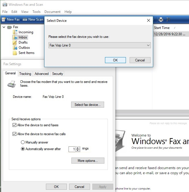 Configuring Fax Service