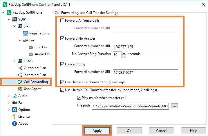 Configure Call Forwarding
