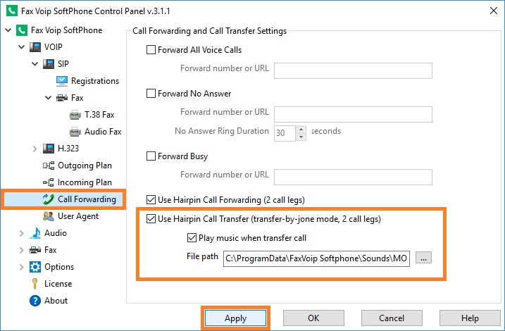 Configure Call Transfer