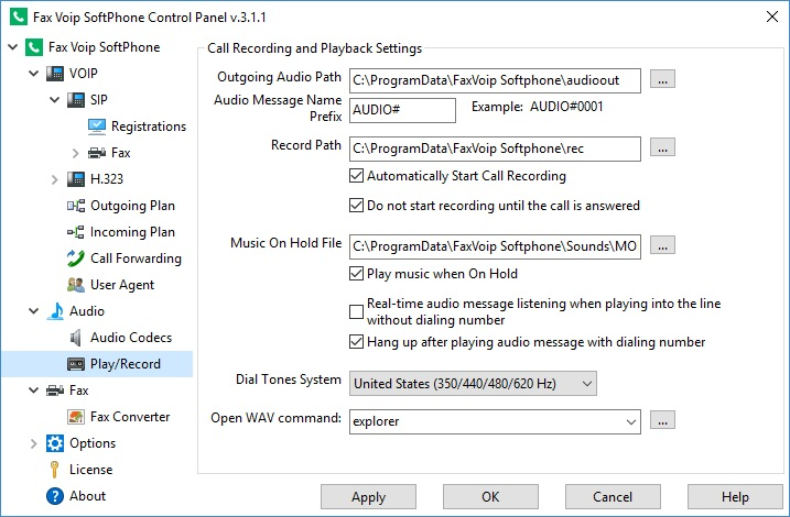 Call Recording and Playback Settings