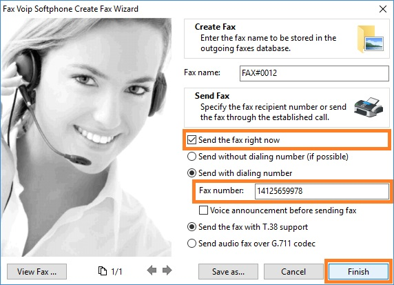 Fax Voip Softphone Create Fax Wizard