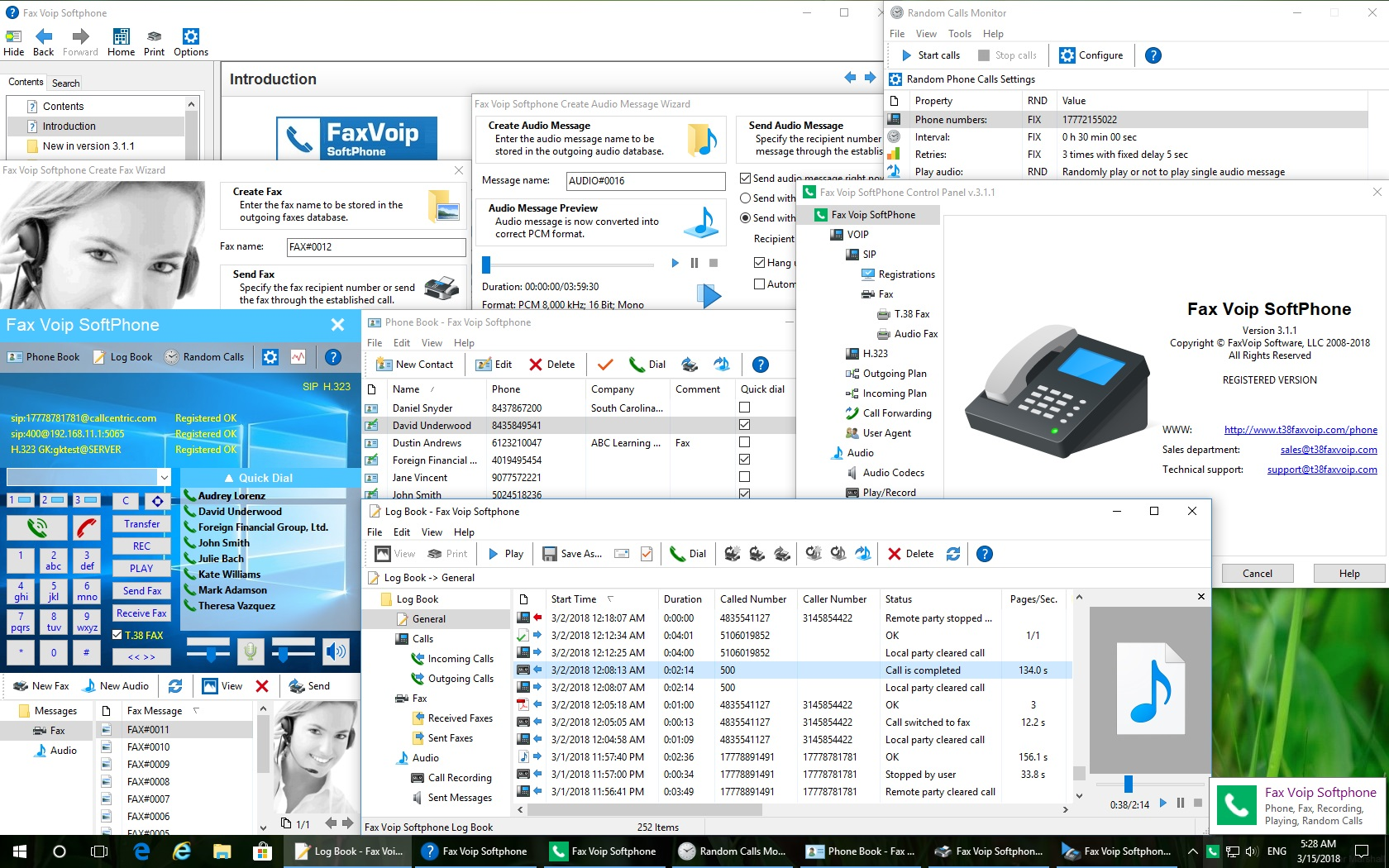 Screenshot of Fax Voip Softphone